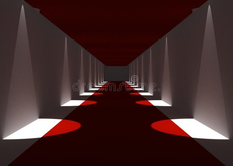 Corridoio del tappeto rosso illustrazione di stock - Il tappeto del corridoio ...