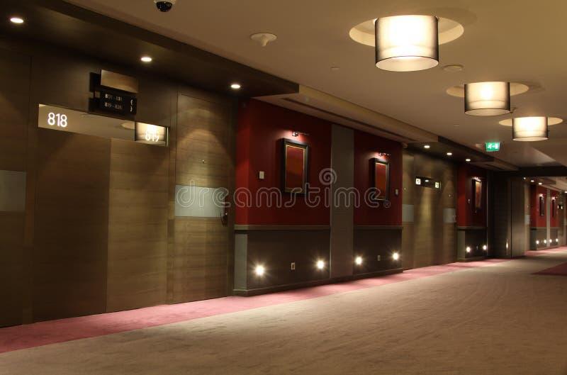 Corridoio dell'hotel fotografie stock