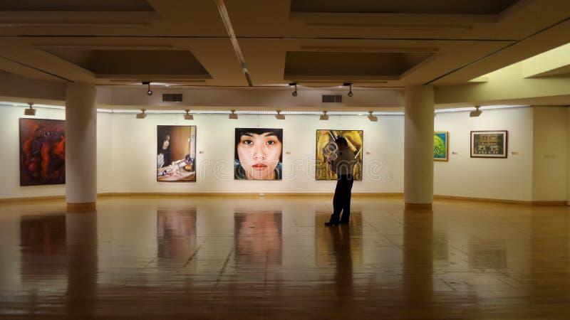 Corridoio della galleria di arte fotografia stock libera da diritti