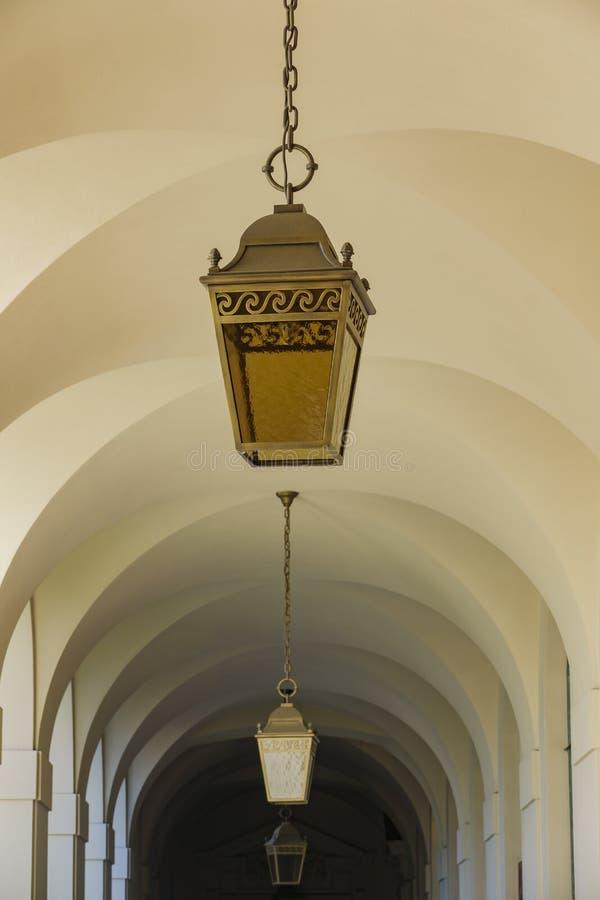 Corridoio di bello comune di Pasadena a Los Angeles, California fotografie stock libere da diritti