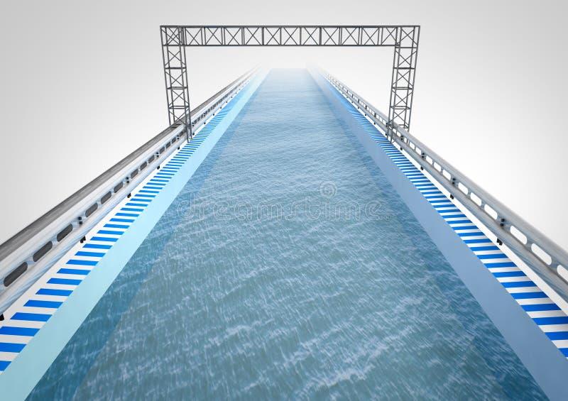 Corridoio di modo della barca con acqua royalty illustrazione gratis