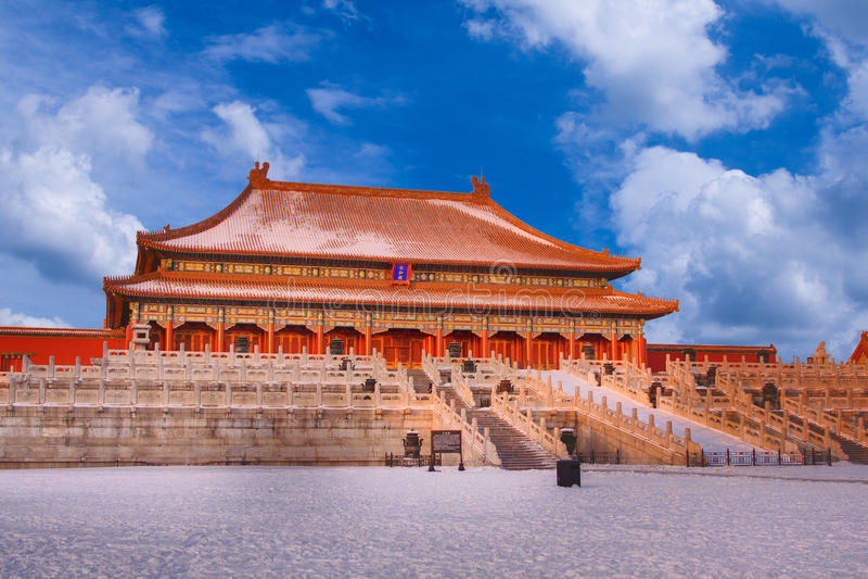 Download Corridoio Di Taihe Nella Città Proibita Fotografia Stock - Immagine di ming, colore: 30829484