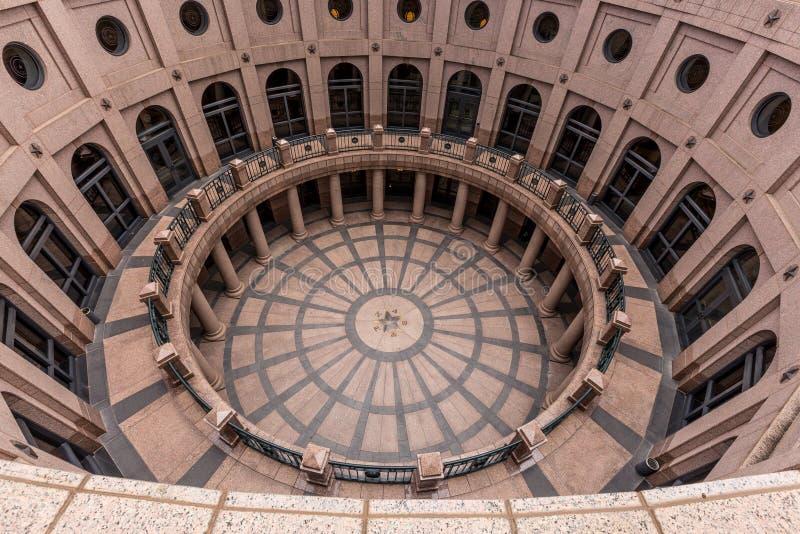 Corridoio di Texas State Capitol Building fotografie stock