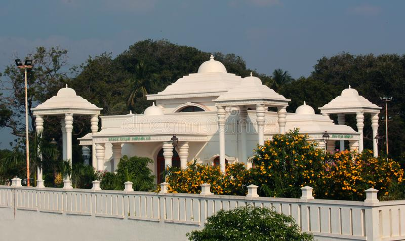 Corridoio di TheKarikala Cholan Manimandapam- situato nel grande Kallanai fotografie stock libere da diritti