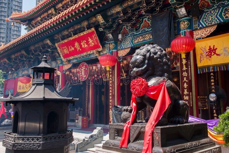 Corridoio di Wong Tai Sin Temple immagine stock