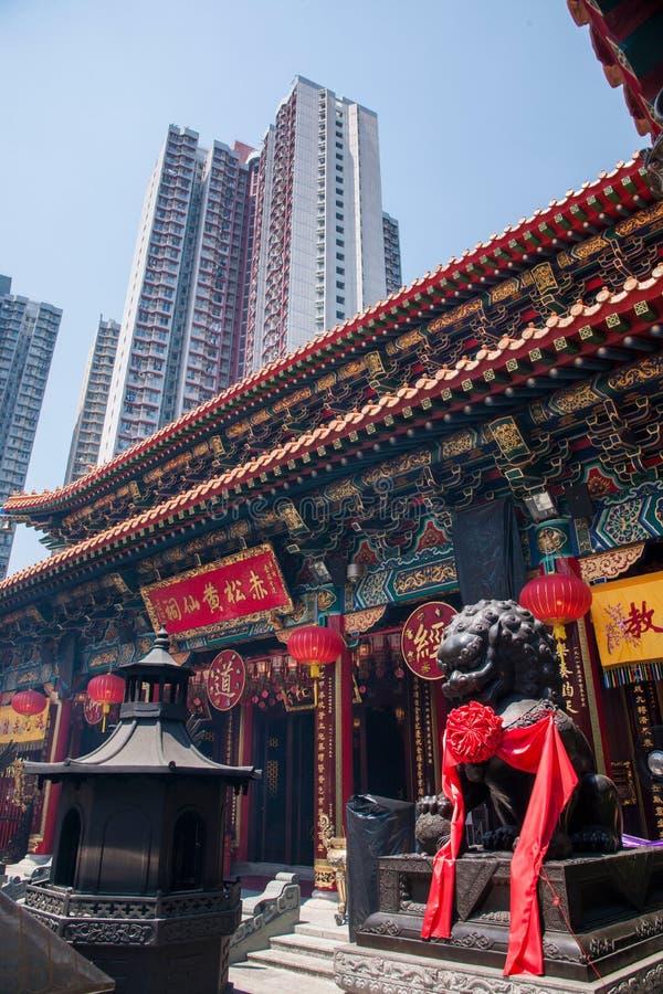 Corridoio di Wong Tai Sin Temple immagini stock