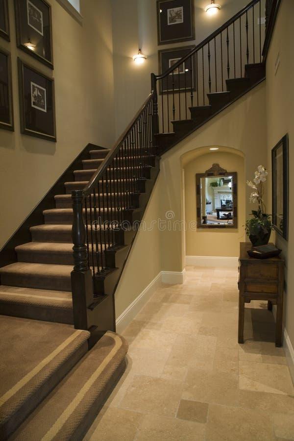 Corridoio domestico di lusso fotografia stock