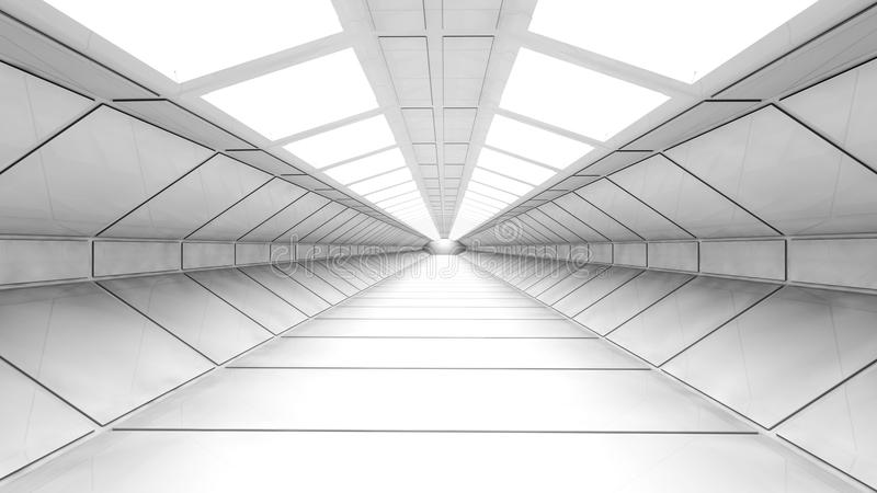 Corridoio futuristico illustrazione di stock
