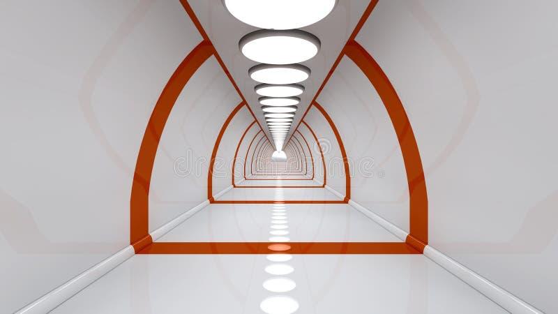 Corridoio futuristico di futuro illustrazione vettoriale