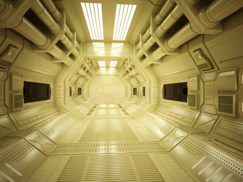 Corridoio futuristico di Sci fi immagine stock