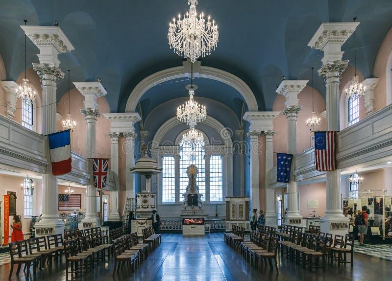 Corridoio interno della chiesa di St Paul fotografia stock