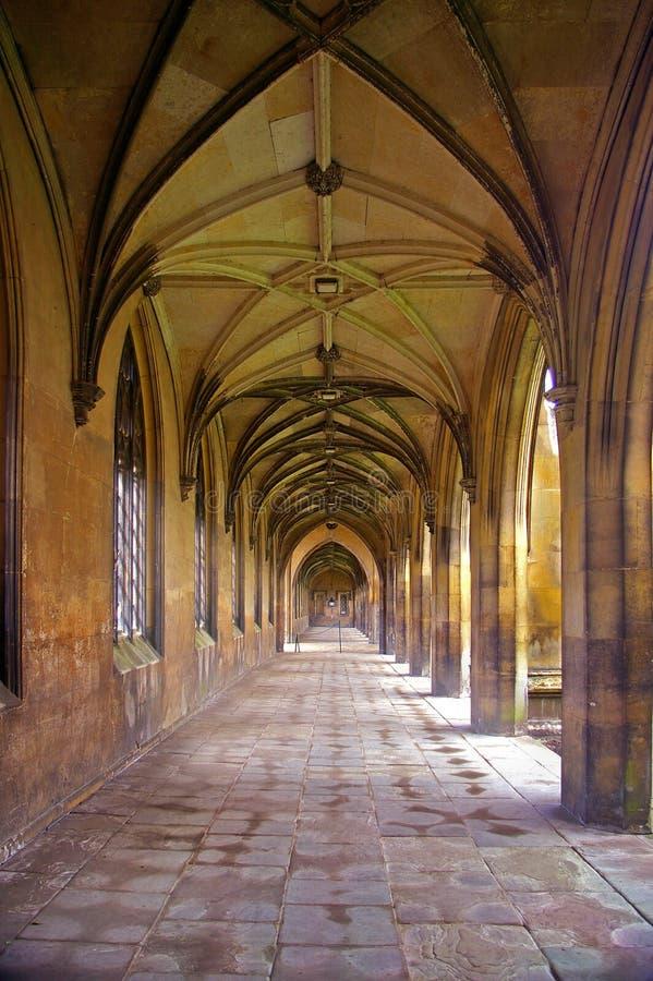 Corridoio, istituto universitario della st John immagini stock