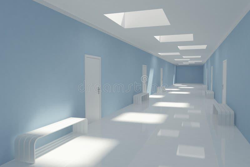 Corridoio lungo moderno illustrazione di stock