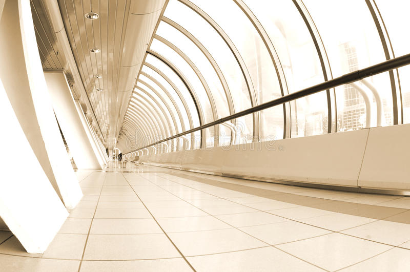Corridoio moderno. Seppia fotografie stock