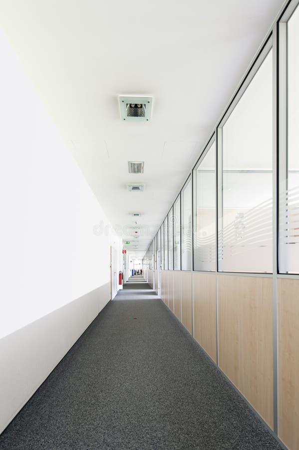 Corridoio molto lungo dell 39 ufficio con il vetro della - Il tappeto del corridoio ...