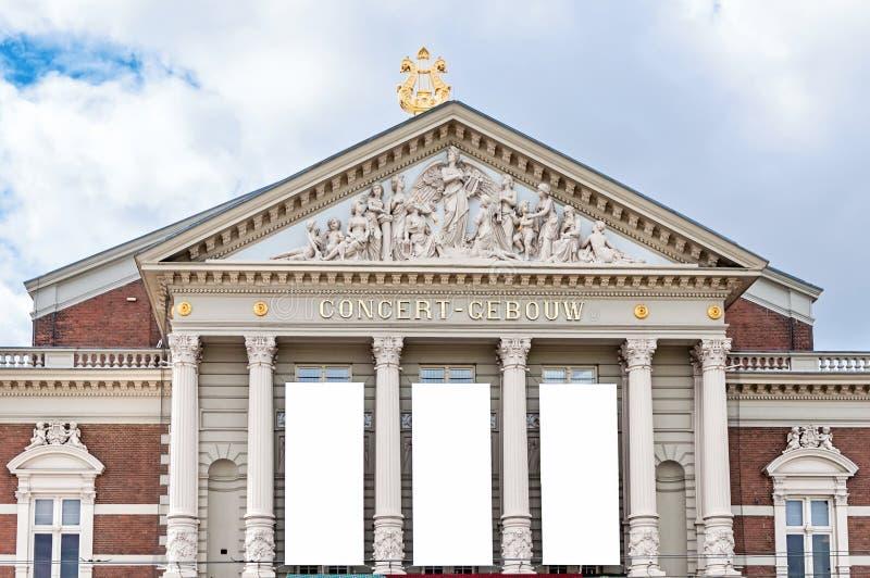 Corridoio nazionale del expositon di concerto di musica a Amsterdam fotografie stock