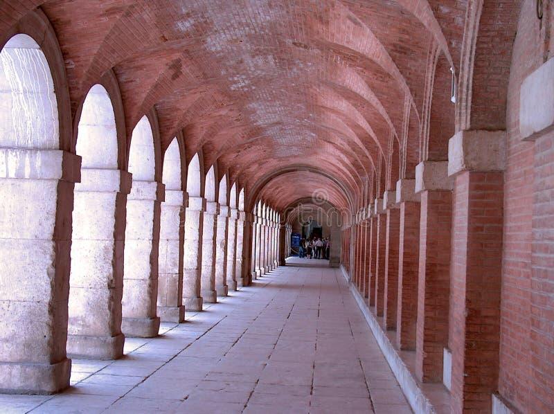 Corridoio nel palazzo reale. fotografie stock