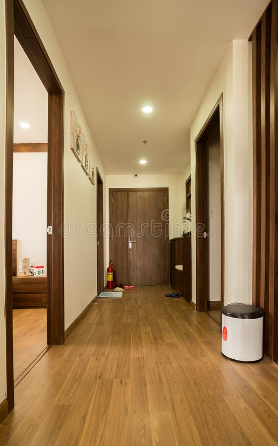Corridoio nella progettazione della casa di architettura fotografie stock