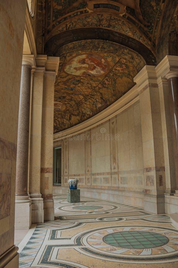 Corridoio pienamente decorato al Petit Palais a Parigi immagine stock libera da diritti