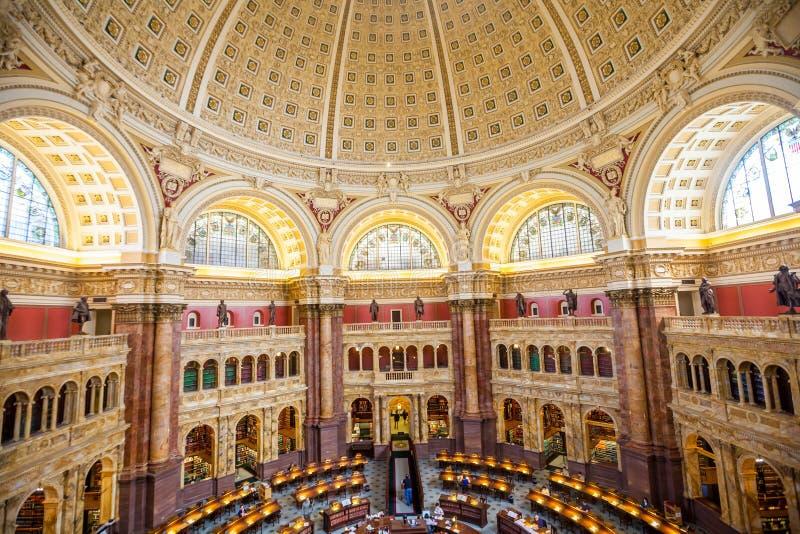 Corridoio principale della CC del soffitto della Biblioteca del Congresso immagini stock libere da diritti