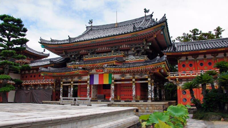Corridoio principale di Kosanji Temple nel Giappone fotografie stock libere da diritti