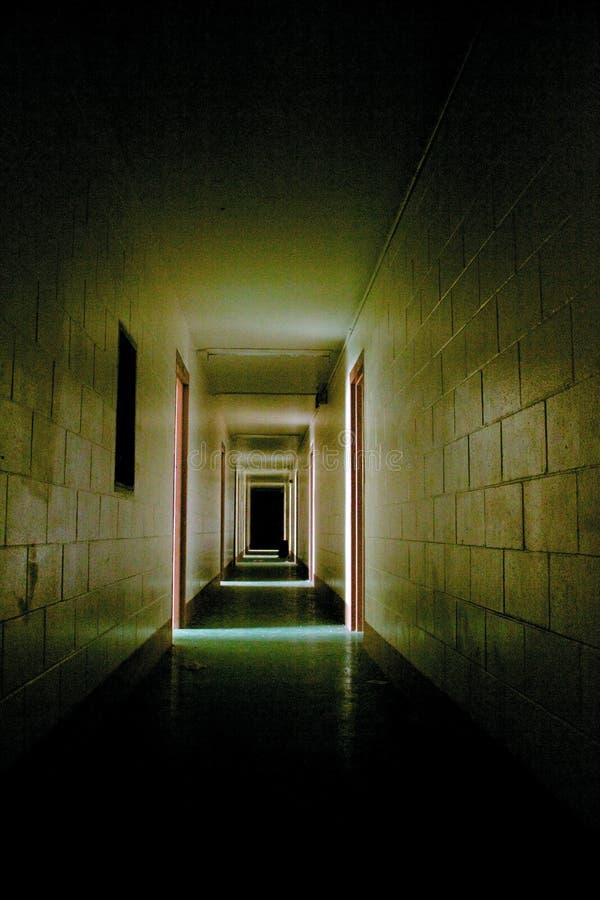 Corridoio spaventoso immagine stock