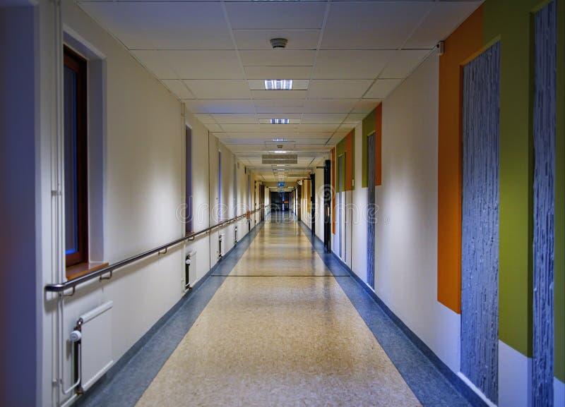 Corridoio svedese dell'ospedale fotografia stock