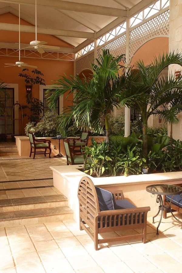 Corridoio tropicale immagine stock