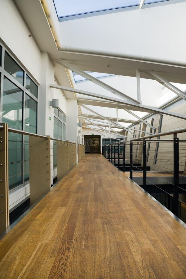 Corridoio in ufficio moderno immagine stock