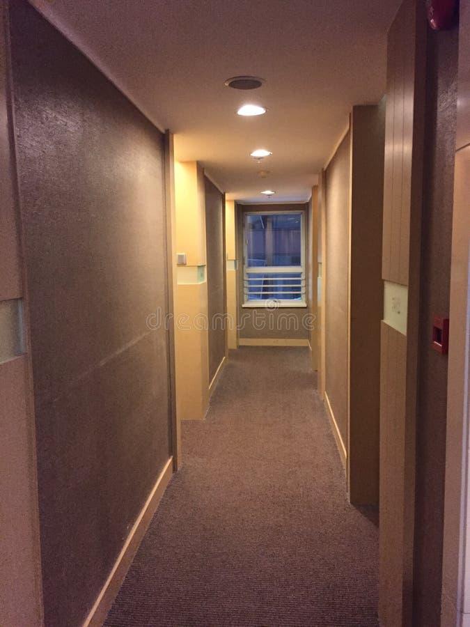 Corridoio in un hotel immagine stock