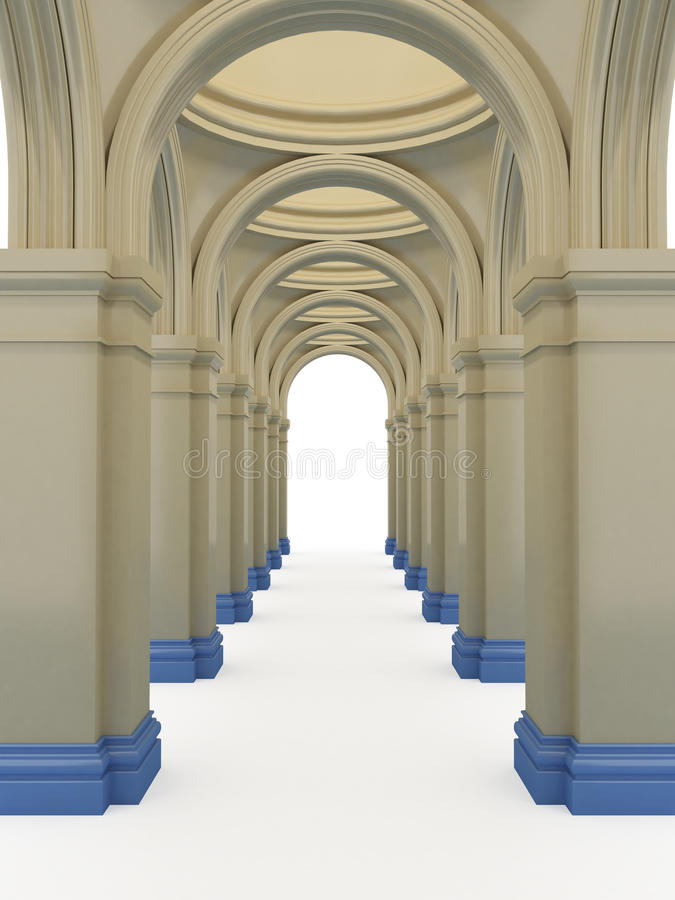 Download Corridor stock illustration. Image of frame, built, ionic - 20235497