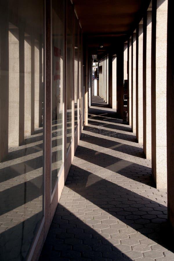 Download Corridor stock photo. Image of shadows, pillars, pavement - 3214708