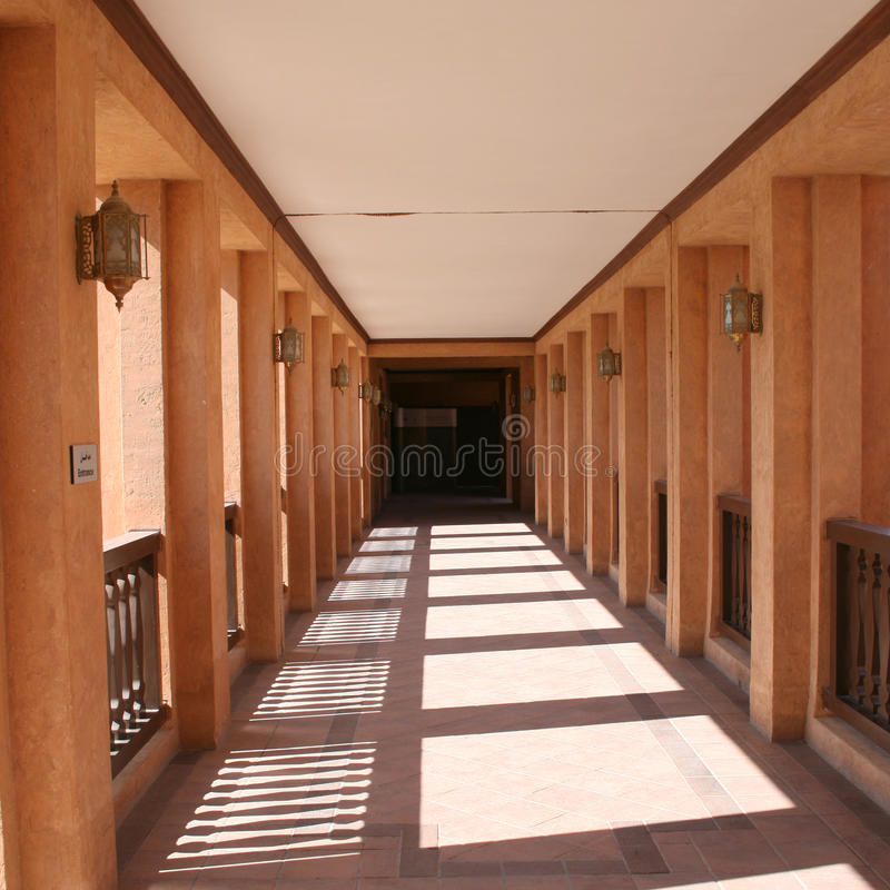 The Corridor of Al Ain National Museum royalty free stock images