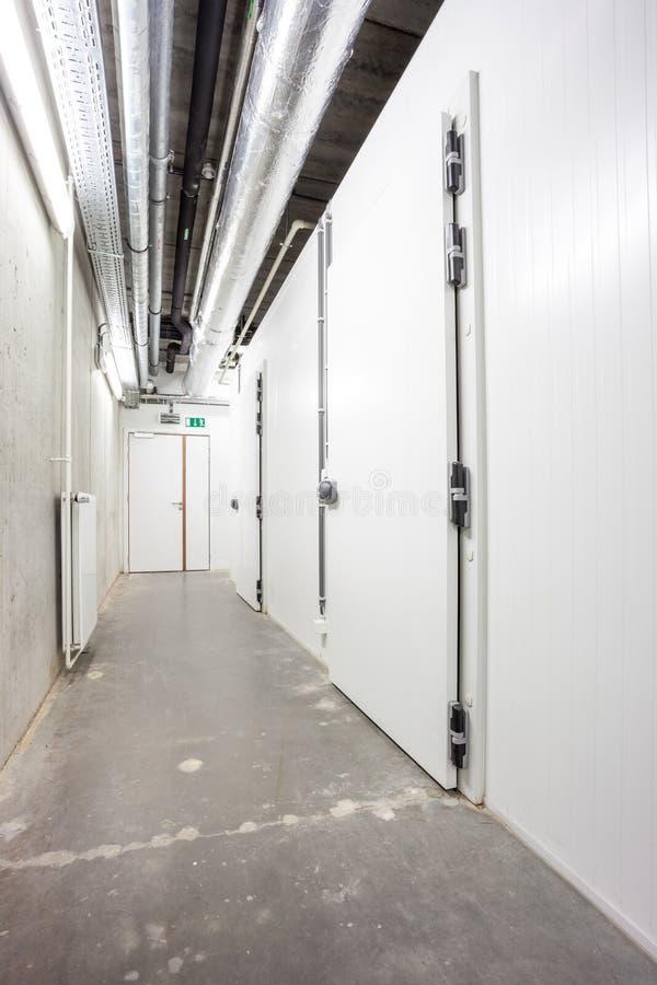 Corridor in the basement stock photography
