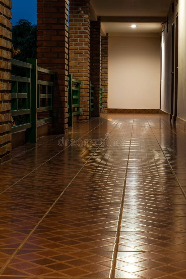 The corridor in building royalty free stock photos
