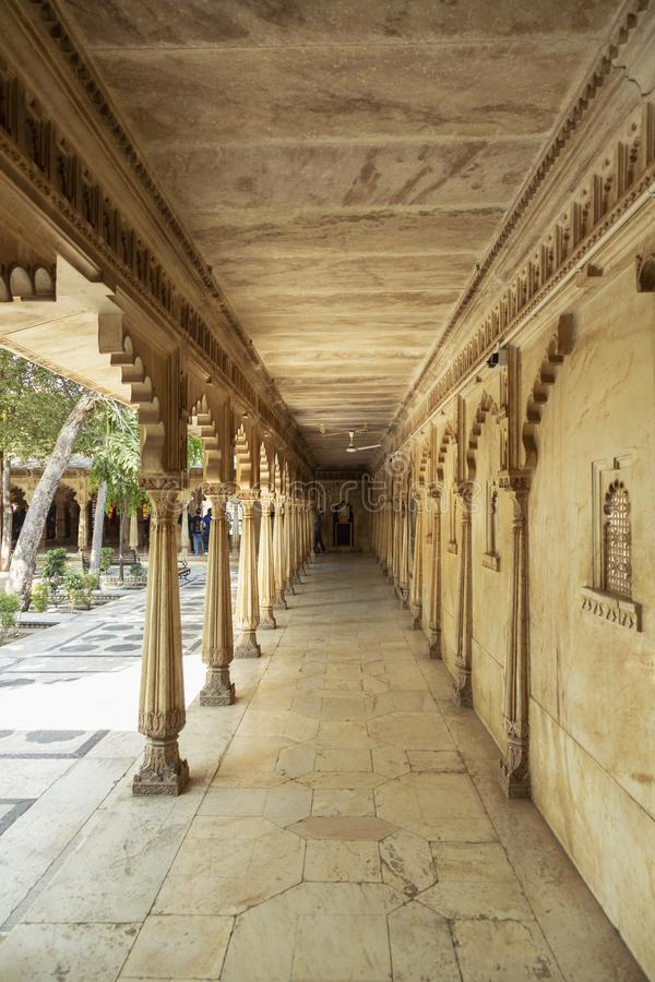 Corridor of City Palace, Udaipur, Rajasthan. Corridor of City Palace at Udaipur, Rajasthan India royalty free stock images