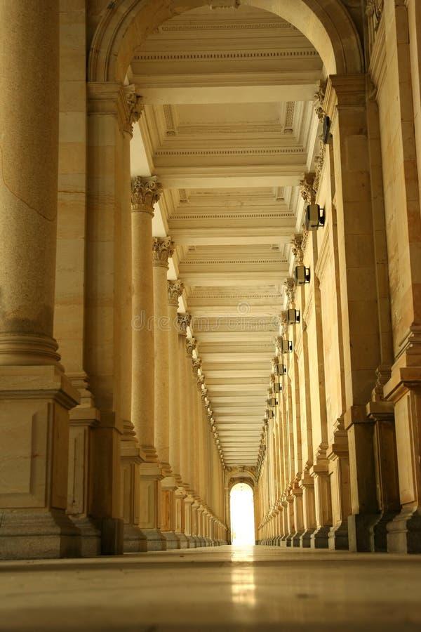 Corridor of columns, hallway stock photos