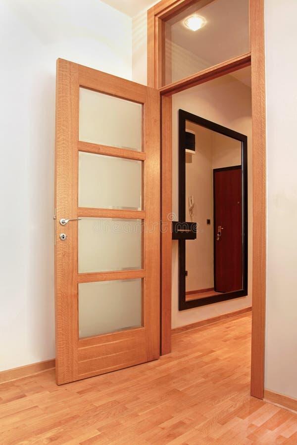 Corridor door stock photo image of inside wooden empty - Puertas escaleras para ninos ...