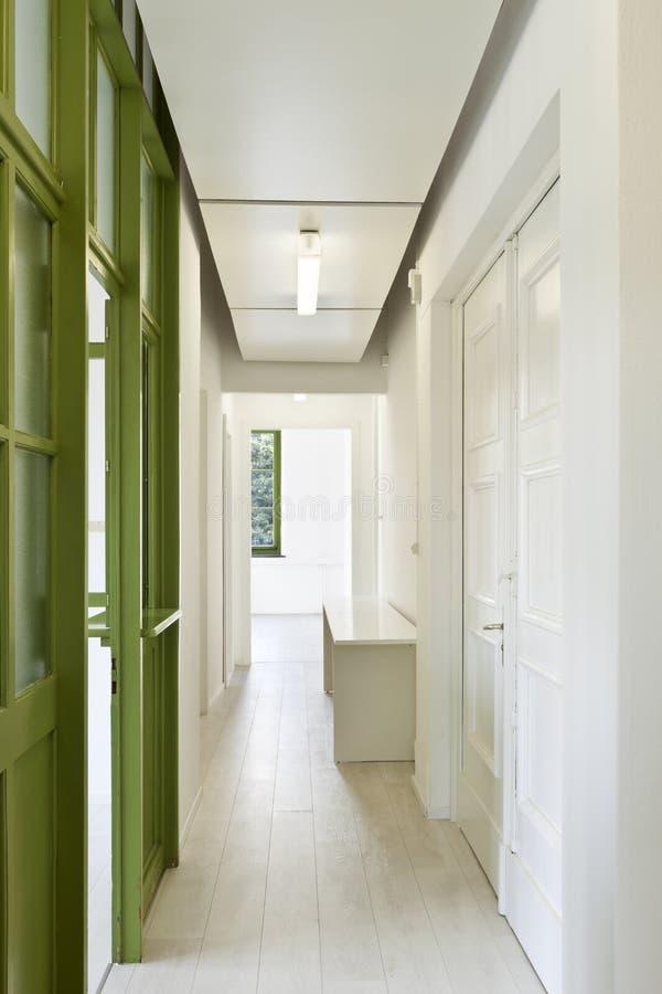 Corridor With Glass Door Royalty Free Stock Images