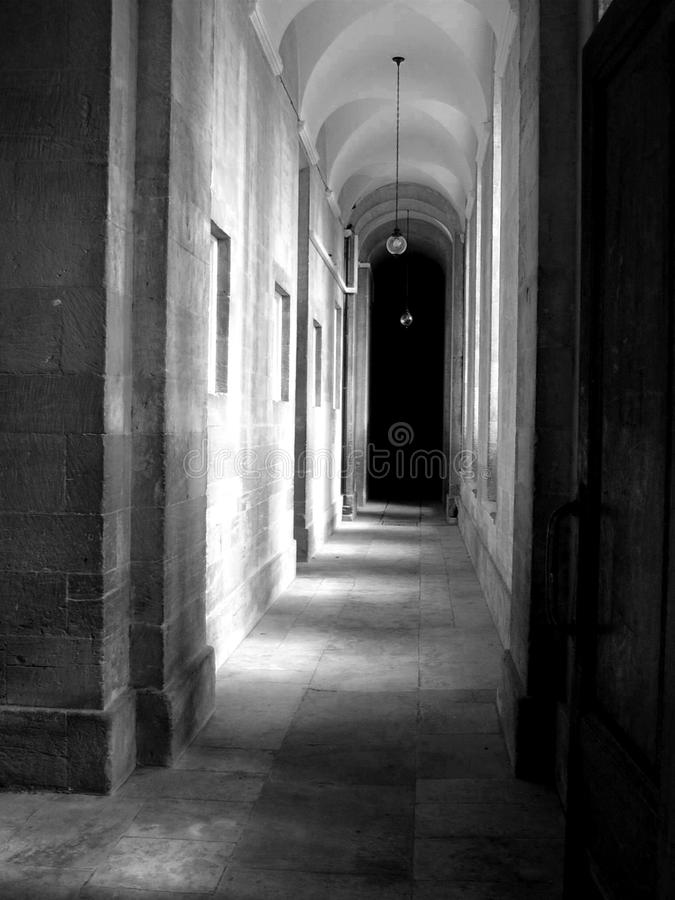 A corridor in a historic building royalty free stock image