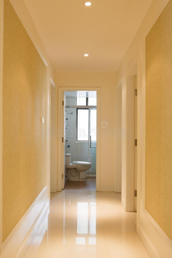 The corridor in a house. There is the corridor in a house royalty free stock photos