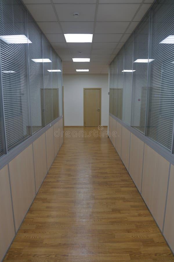 Corridor in an industrial premises. Office corridor in modern industrial production area stock photo