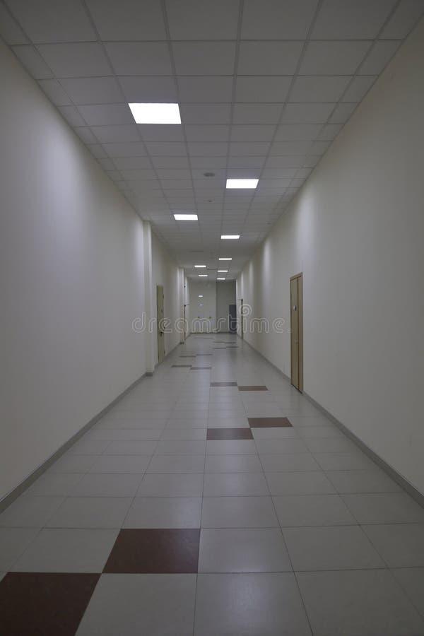 Corridor in an industrial premises. Office corridor in modern industrial production area stock image