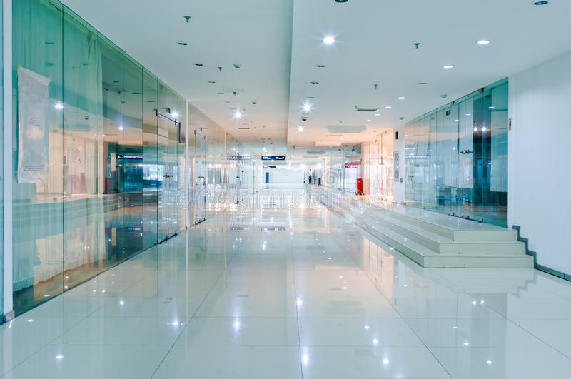Corridor interior stock image