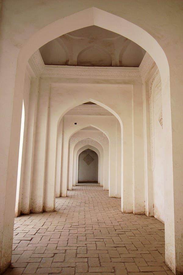 Corridor of an Islamic building stock photos