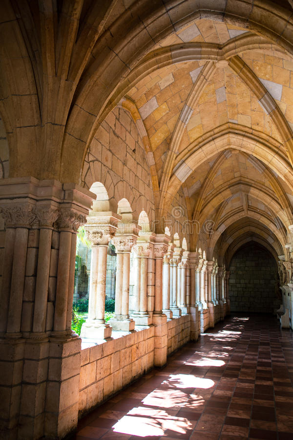 Download Corridor in a Monastery. stock image. Image of abbey - 33199839