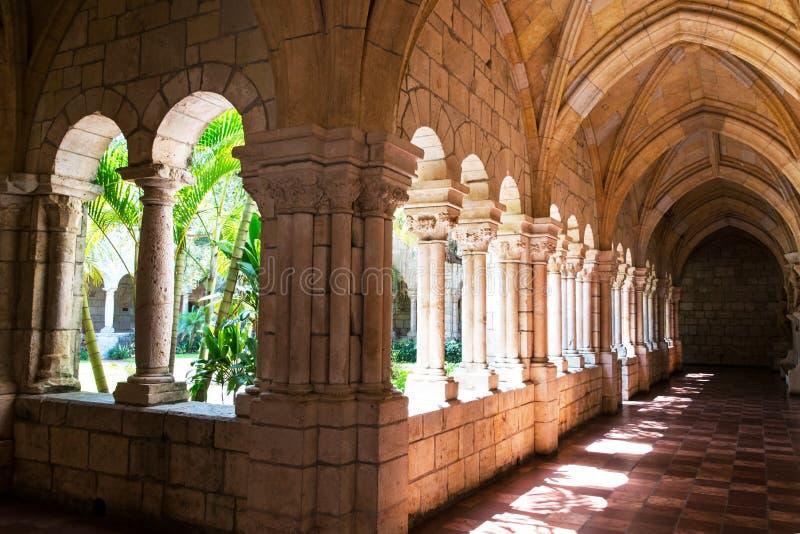 Corridor in a Monastery. royalty free stock photography