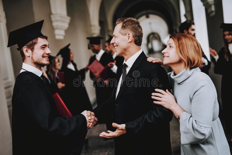 Corridor. Mother. Father. Son. Parents. Relations. royalty free stock image