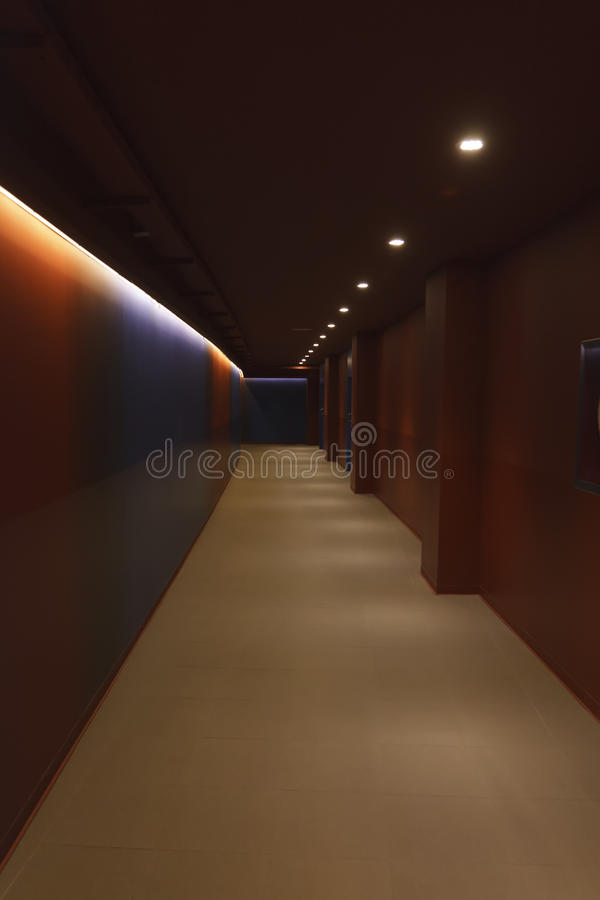 Corridor of Nou Camp royalty free stock images