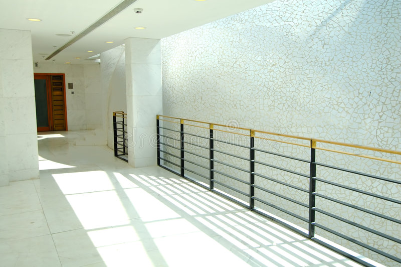 Corridor of office building stock photography